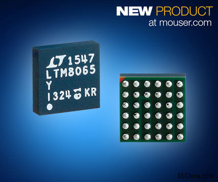 贸泽备货ADI的LTM8065 μModule稳压器,采用Silent Switcher架构大幅降低EMI/EMC