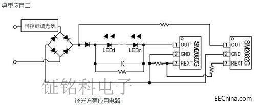 浙江深圳第二代高压灯带恒流IC SM500A系统方案设计详情分析专用图