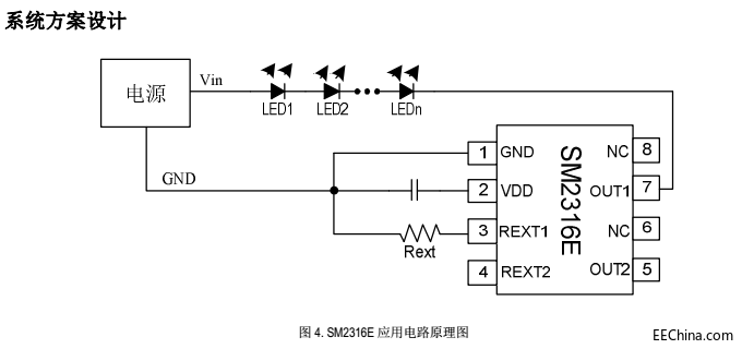 16W恒功率无频闪方案SM2316E低成本应用替换亚成微RM3300T