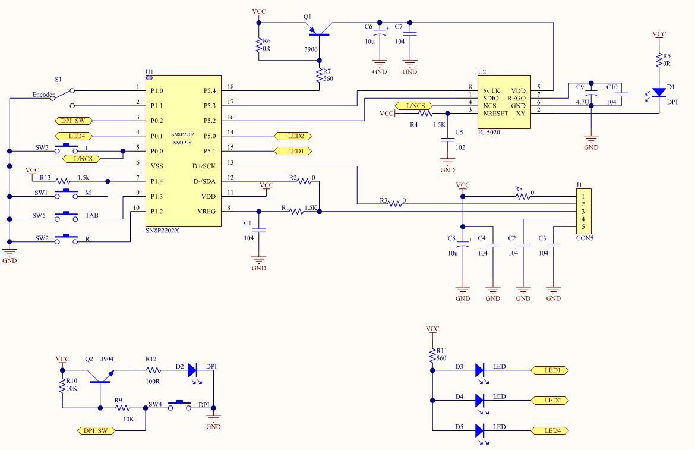 几种鼠标电路图