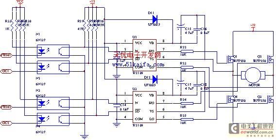 -2 电机驱动电路-汽车电动助力转向系统电控单元的研究图片