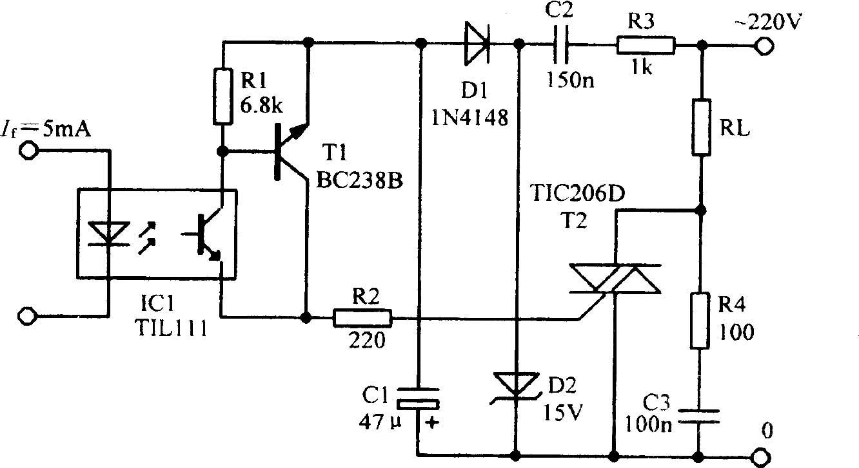 可控硅驱动放大电路