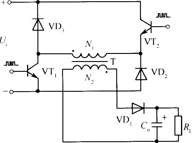 69 电源技术 69 电路 > 两组晶体管,二极管钳位的反激式开关电源