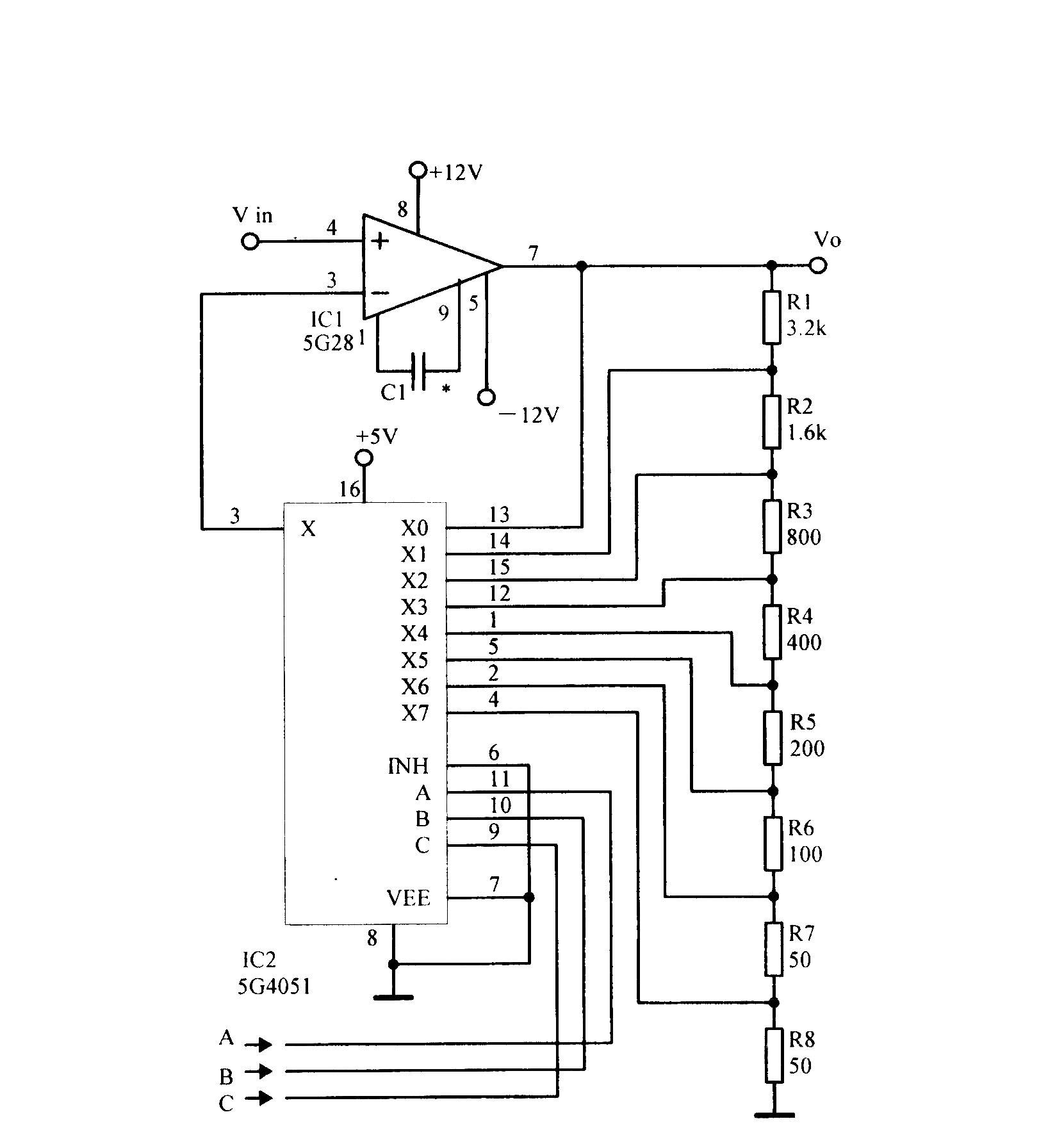 程控增益放大电路 - 模拟电子技术