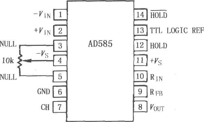 69 模拟电子技术 69 电路 > ad585高速精密采样保持放大器    ad