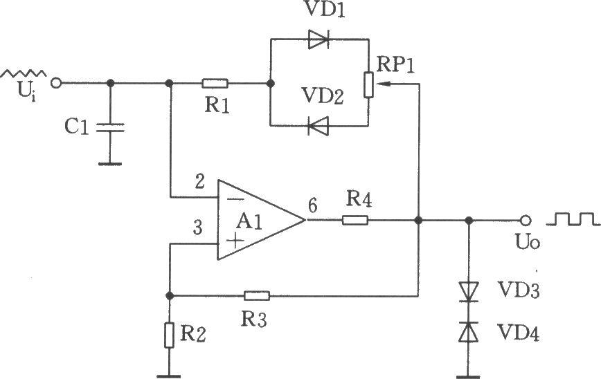 由μa741集成运放构成的方波发生电路