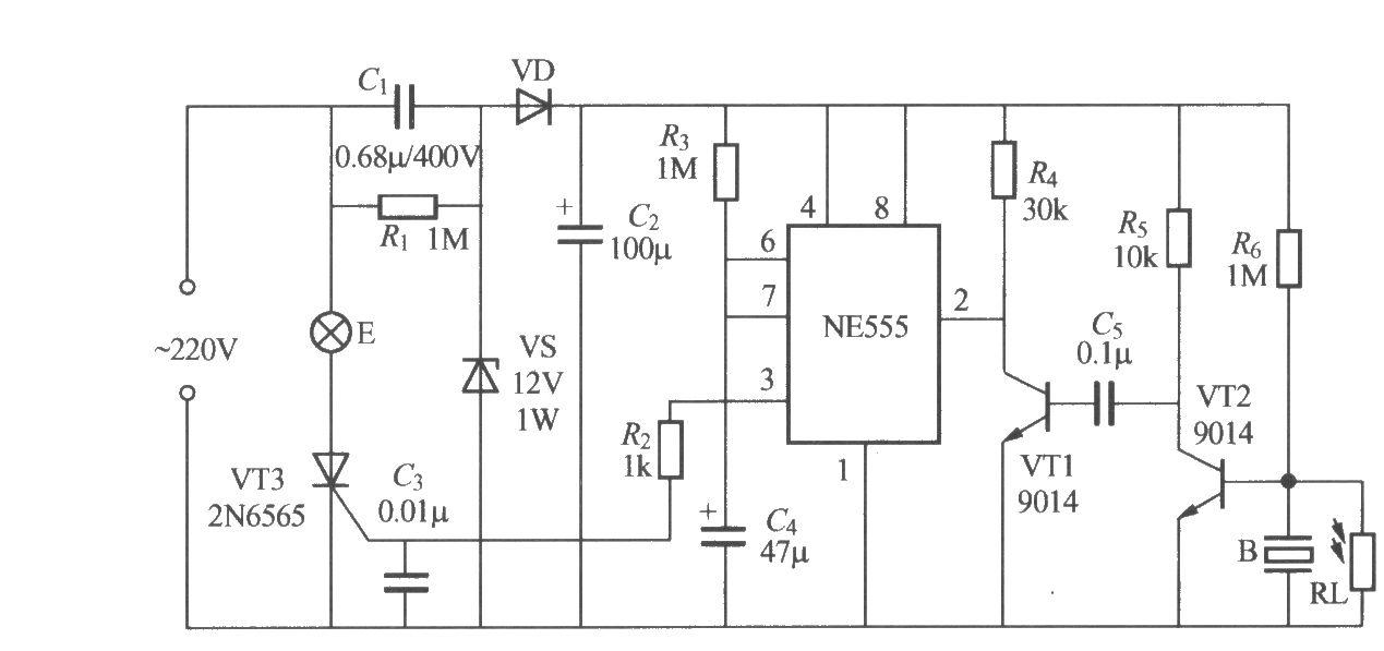 非二线制声光控楼梯延迟开关电路(3)