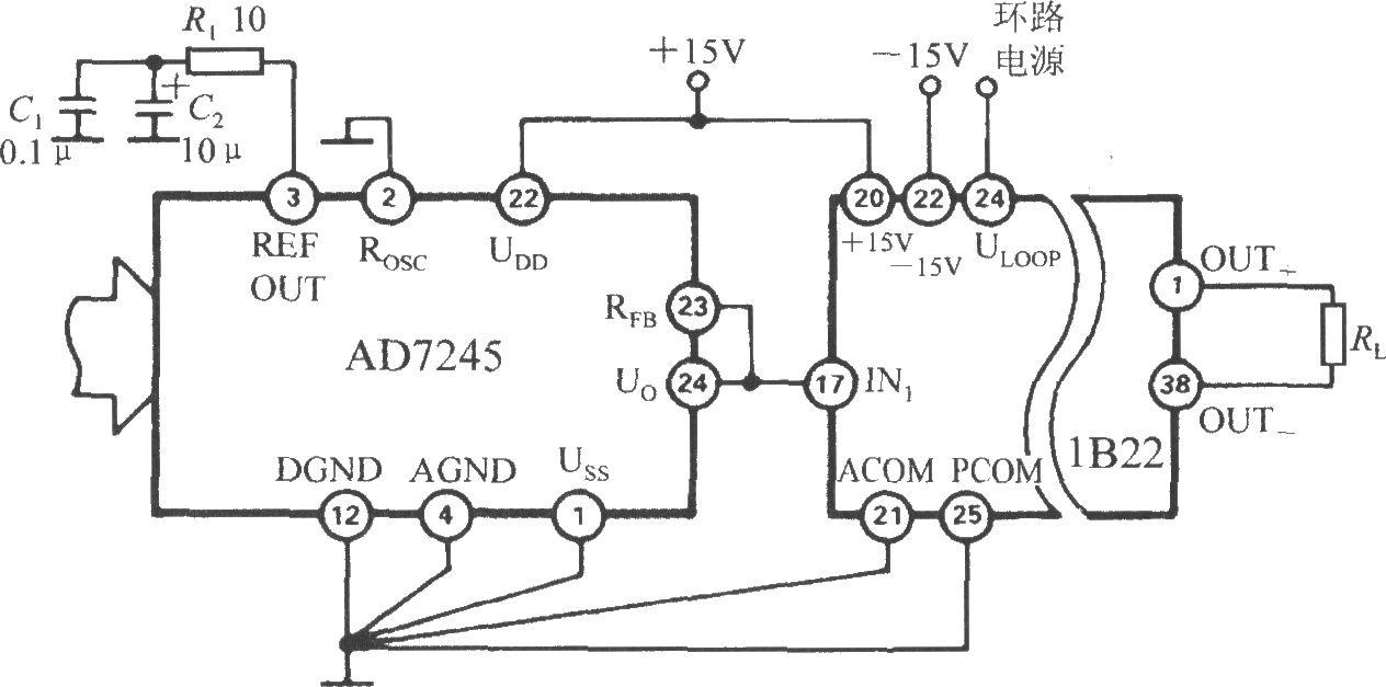 d/a转换器的电流环接口(隔离式可编程电压/电流传感器