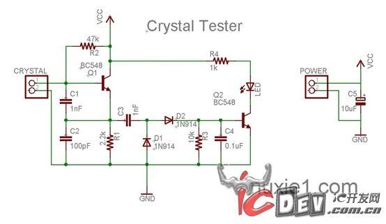 石英晶振测试电路