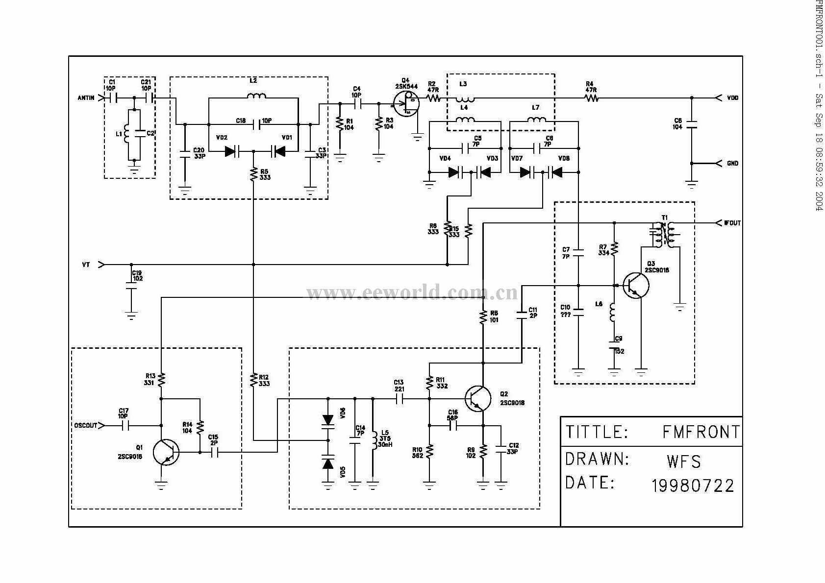 经典高频头电路 - 通信/网络 - 电子工程网