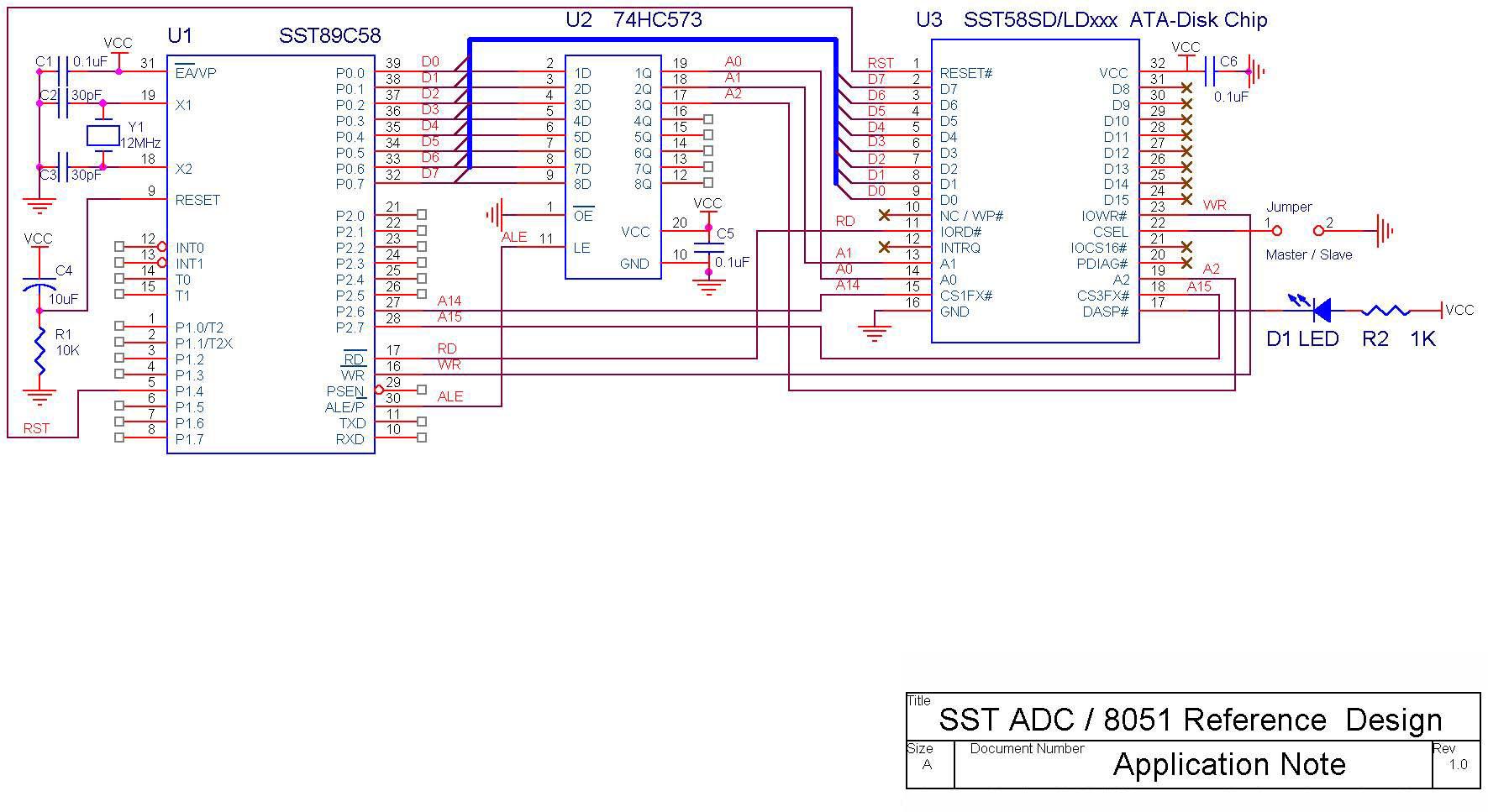 sst89c58电子盘电路及代码