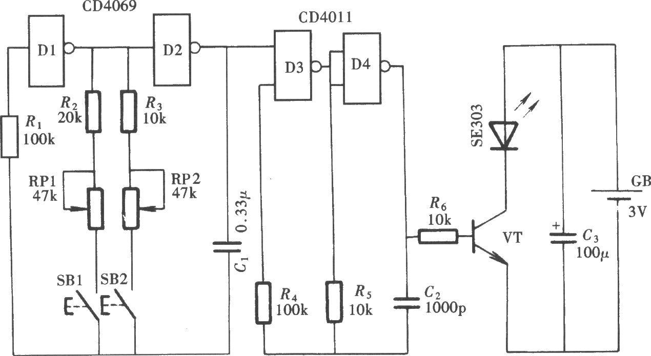 69 工业/测控 69 电路 > 双通道红外线遥控开关(lm567,cd4013)
