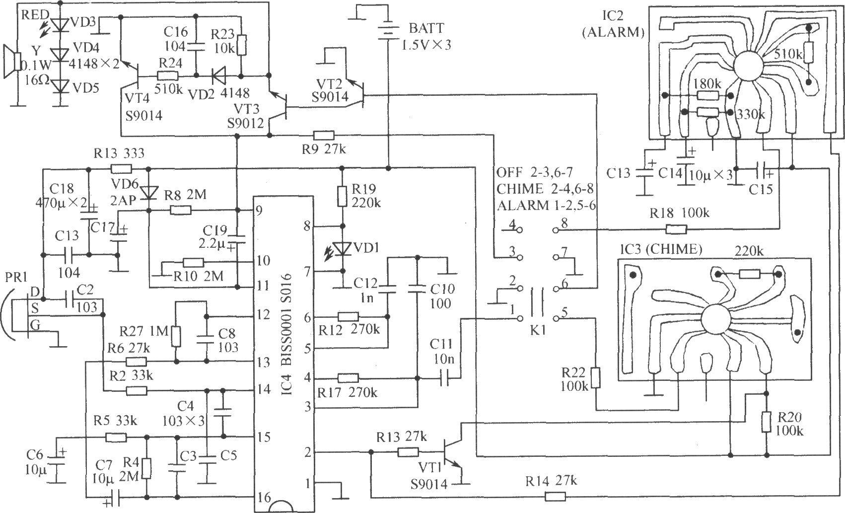 ne555门铃电路原理