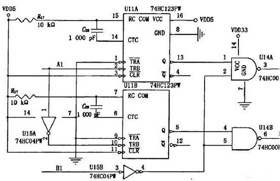 图2 旋转编码器采集电路中的一路.