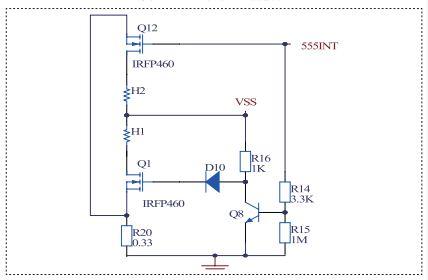 可选择不同的稳压二极管稳压,再经三极管q100放大电流后供给不同电子