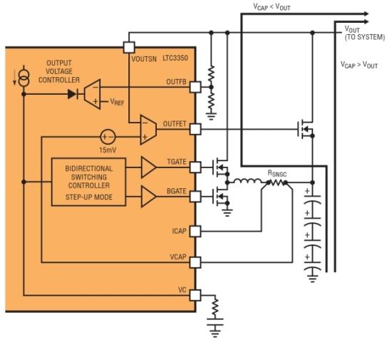超级电容器后备电路提供可靠的不间断电源
