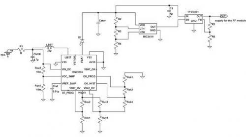 电池的无线传感器节点自供电系统设计           图2系统温差能量采集