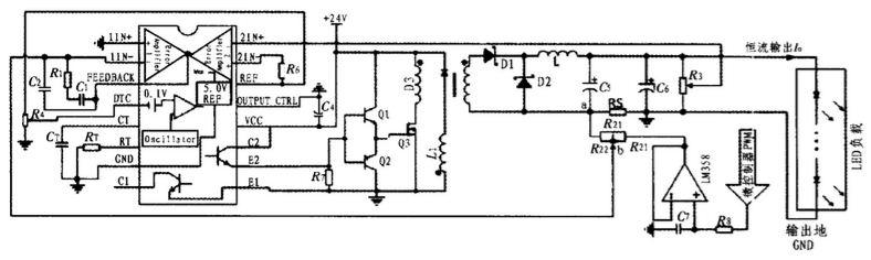 通过光电池进行光照采集对输出电流进行反馈调节以使输出稳压、恒流。APF通过主控制器输出电流来抵消由无线驱动模块注入电网的电流谐波,以改善输入端电能质量。  图1 系统整体结构图 2 系统电路设计 2.1 无线供电系统设计 无线供电系统由控制端、发射端、负载整流电路组成,分别通过电磁耦合(近距离传输方式)和电磁共振(远距离传输方式),实现无线供电,系统结构图如图2 所示。  图2 无线供电系统结构图 发射端主要由逆变器和传输通道组成。逆变器负责将直流电(DC)转化为交流电(AC)的装置,它由逆变桥、控制逻辑