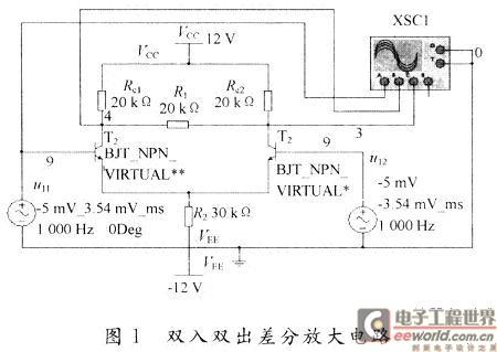 基于multisim的差分放大电路仿真分析