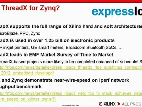 Zynq教程17:Express Logic ThreadX RTOS视频